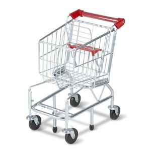 Melissa & Doug Metal Grocery Shopping Cart Toy