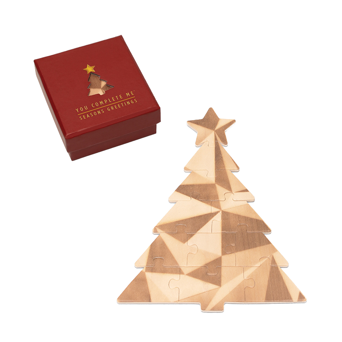 Luckies of London You Complete Me Christmas Tree Jigsaw Puzzle