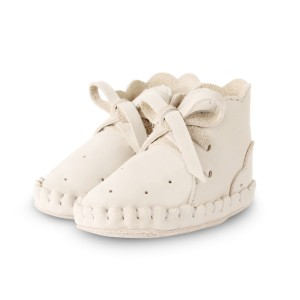 Donsje Amsterdam Leather Pina Jolie Baby Booties in Off White