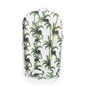 DockATot Deluxe Plus Cover in Green & White Palm Beach Palm Leaf Print