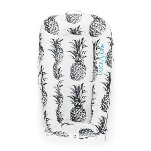 DockATot Deluxe Plus Cover in Black & White Pina Colada Pineapple Print