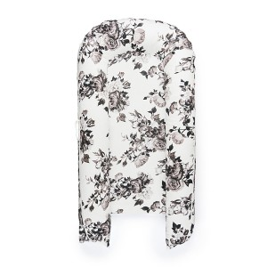 DockATot Grand Cover in Lighter Shade of Pale Monochrome Roses Print