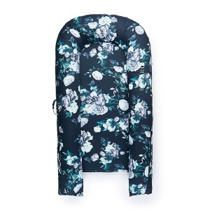 DockATot Grand Cover in Midnight Garden Navy & Blue floral print