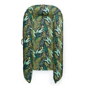 DockATot Grand Cover in Night Falls Hunter Green & Light Green Ferns Print