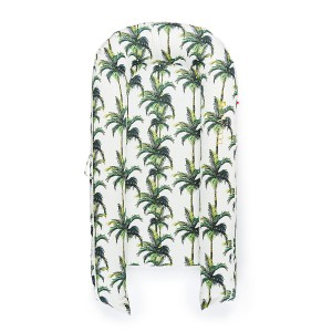 DockATot Grand Cover in Palm Beach Green & White Palm Tree Print