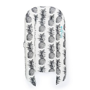 DockATot Grand Cover in Pina Colada Black & White Pineapple Print