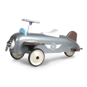 Baghera Ride-On Speedster Plane in Grey & Silver