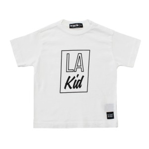 The Good Kids Short Sleeve Tee Shirt in White with LA Kid Print