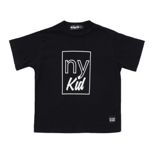 The Good Kids Short Sleeve Tee Shirt in Black with NY Kid Print