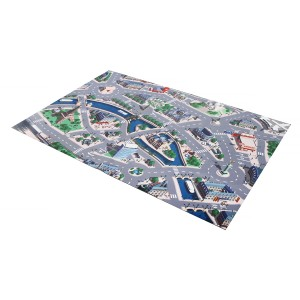 Boardies Natural Rubber Printed Play Mat in Car Circuit