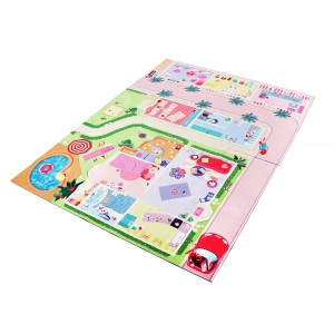 Boardies Natural Rubber Printed Play Mat in Dollhouse