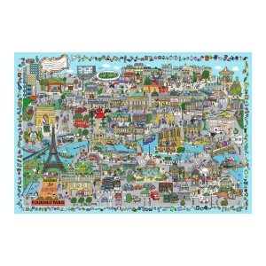 Boardies Natural Rubber Printed Play Mat in I Spy Paris