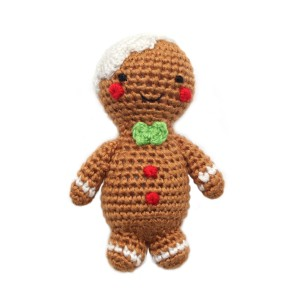 Cheengoo Crocheted Gingerbread Man rattle