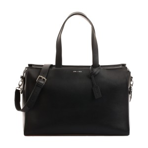 Jem & Bea Margot Leather Diaper Bag in Black