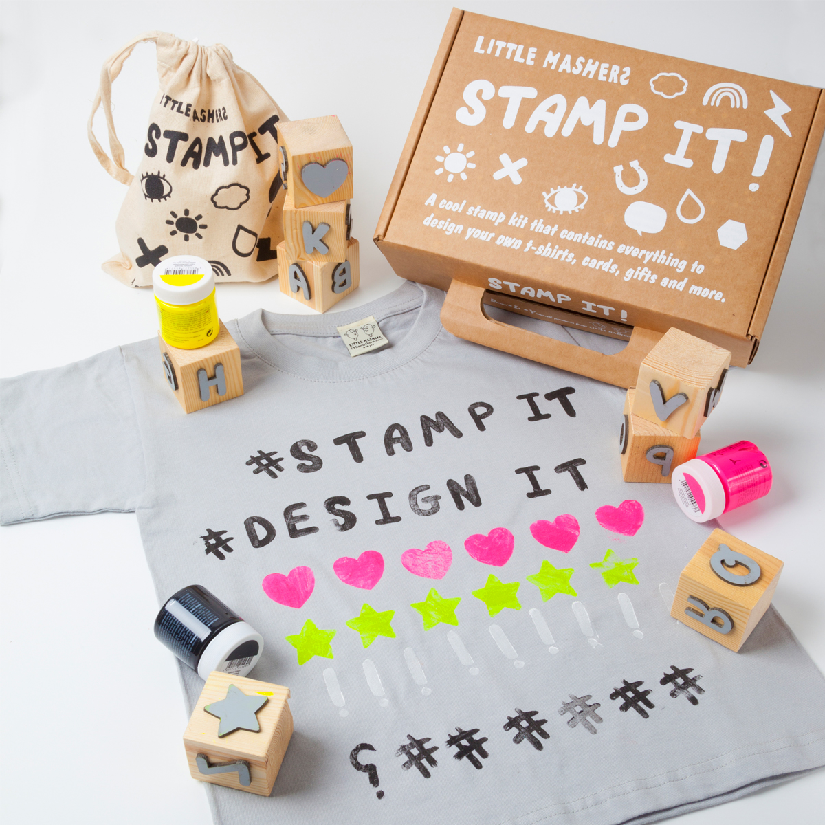 Little Mashers Stamp It! Kit in Letters