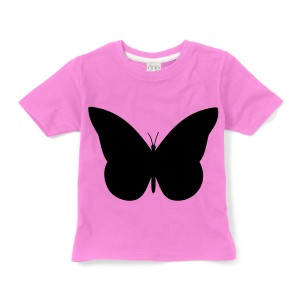 Little Mashers Chalkboard T-Shirt in Pink Butterfly