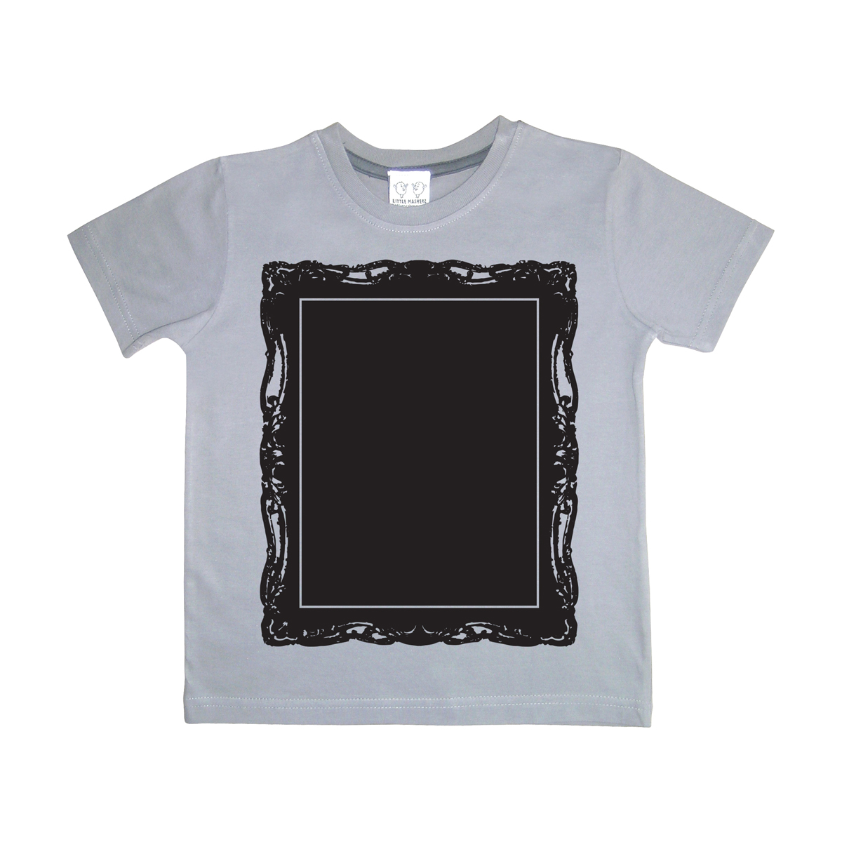 Little Mashers Chalkboard T-Shirt in Grey Picture Frame