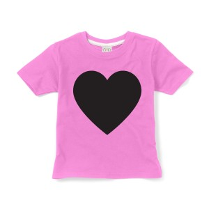 Little Mashers Chalkboard T-Shirt in Pink Heart