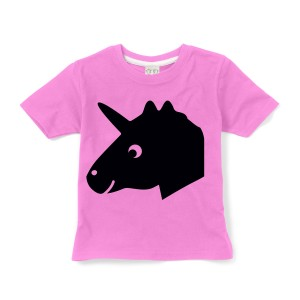 Little Mashers Chalkboard T-Shirt in Pink Unicorn