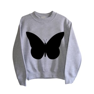 Little Mashers Chalkboard Sweatshirt in Grey Butterfly
