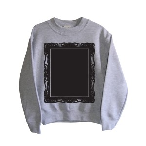 Little Mashers Chalkboard Sweatshirt in Grey Picture Frame