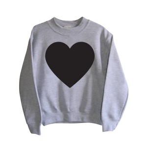 Little Mashers Chalkboard Sweatshirt in Grey Heart