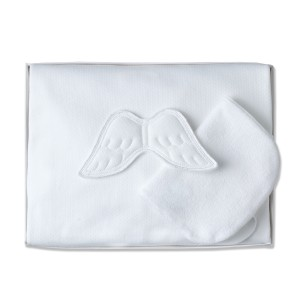 Marie Chantal Angel Wing Bath Time Set in White