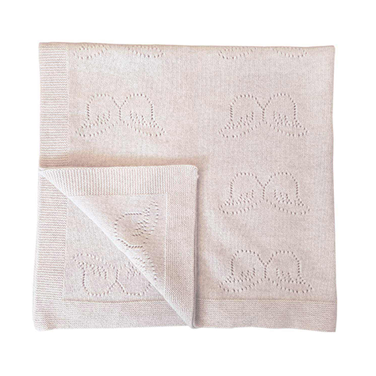 Marie Chantal Pointelle Cashmere Baby Blanket in Ivory