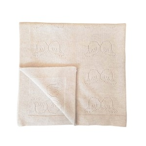 Marie Chantal Pointelle Cashmere Baby Blanket in Oatmeal