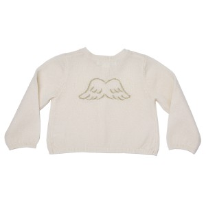 Marie Chantal Mini Cashmere Cardigan in Cream