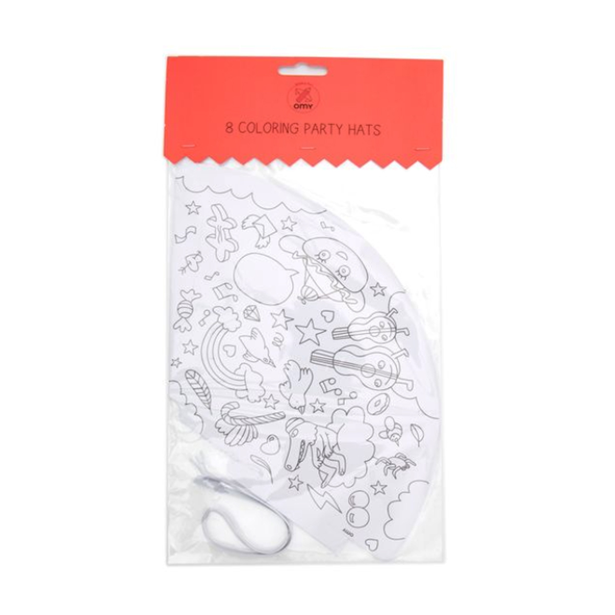 OMY Coloring Party Hat Pack of 8
