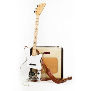 Loog Guitars Electric Guitar in Clear Lucite