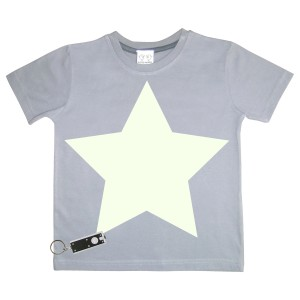 Little Mashers Tee Light Tee Shirt in Grey Star