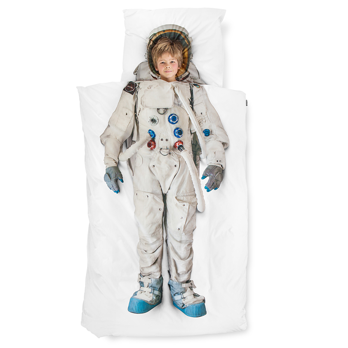 Snurk Twin Size Duvet Cover in Astronaut