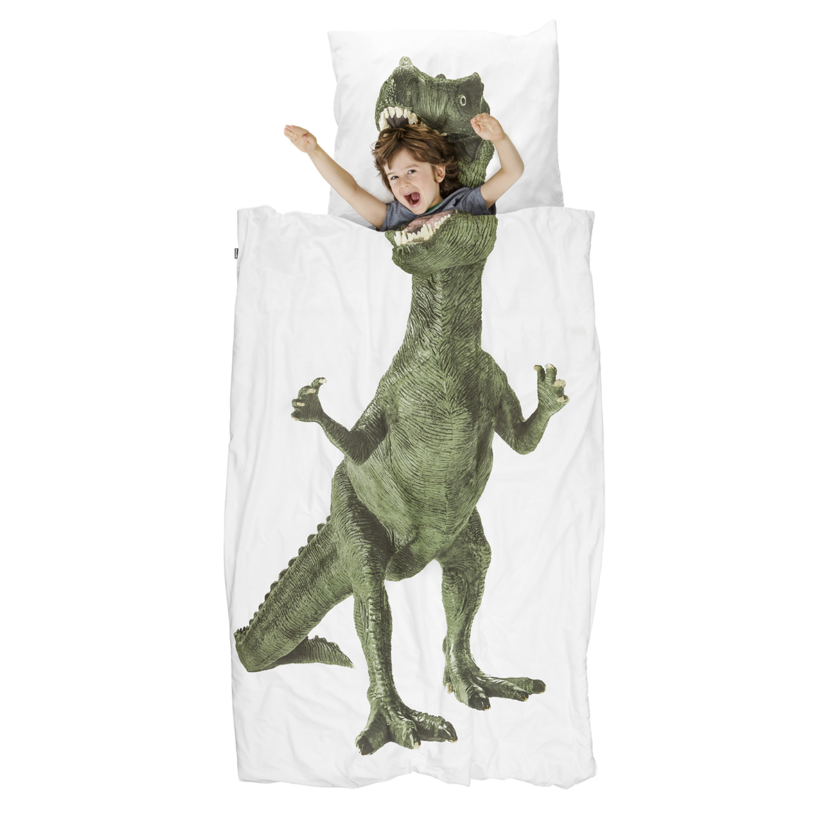 Snurk Twin Size Duvet Cover in Dinosaur