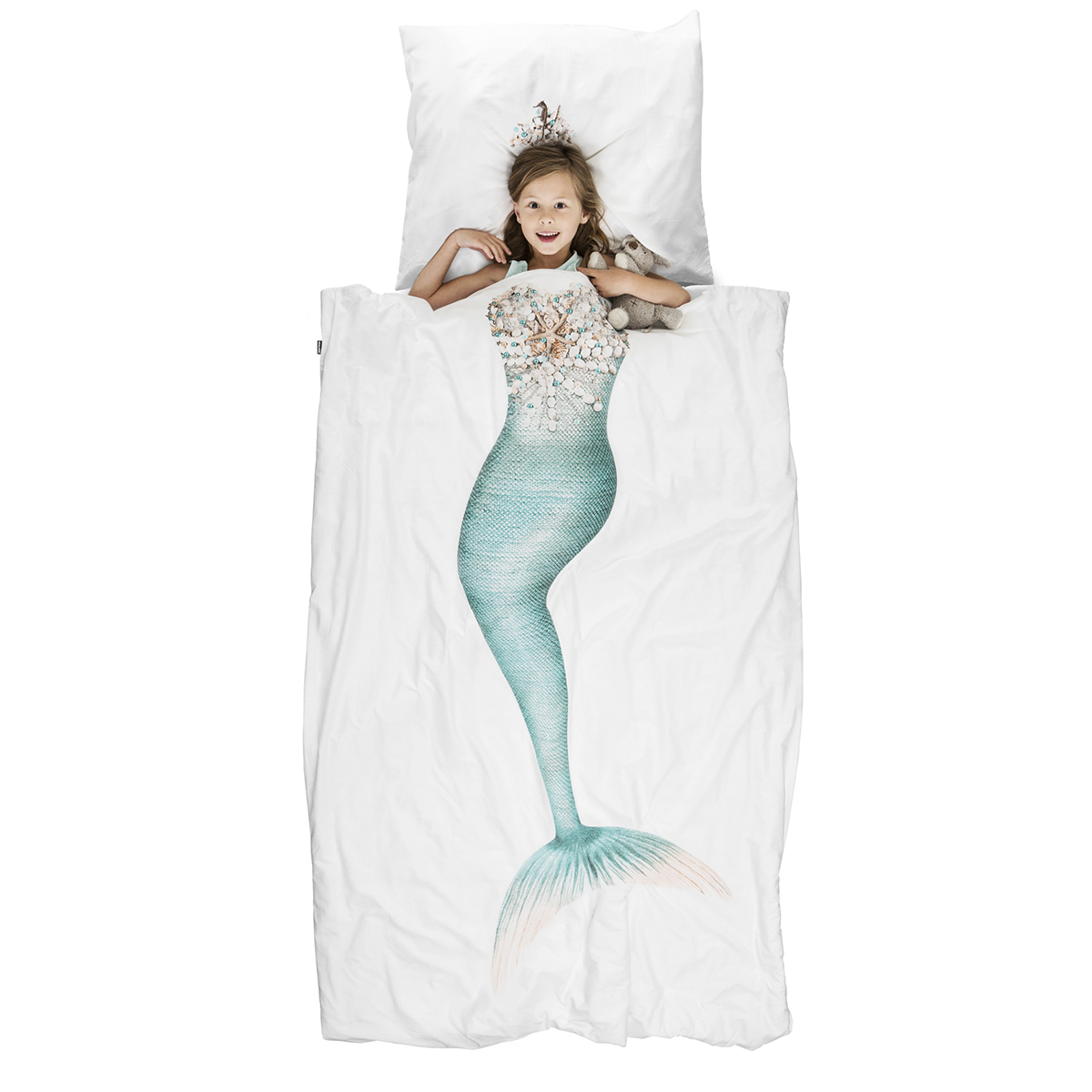 Snurk Twin Size Duvet Cover in Mermaid