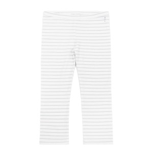 Hart & Land Organic Cotton Legging in White with Micro Chip Grey Stripes
