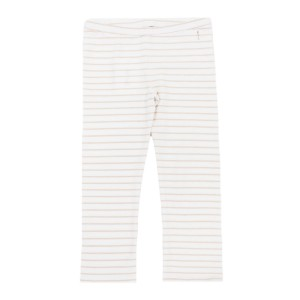 Hart & Land Organic Cotton Legging in White with Sepia Rose Stripes