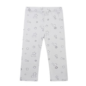 Hart & Land Organic Galaxy Star Legging in Micro Chip Light Grey