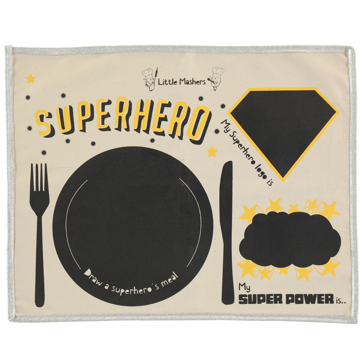 Little Mashers Placemat in Superhero