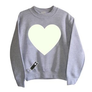 Little Mashers Tee Light Sweatshirt in Grey Heart