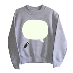 Little Mashers Tee Light Sweatshirt in Grey Speech Bubble