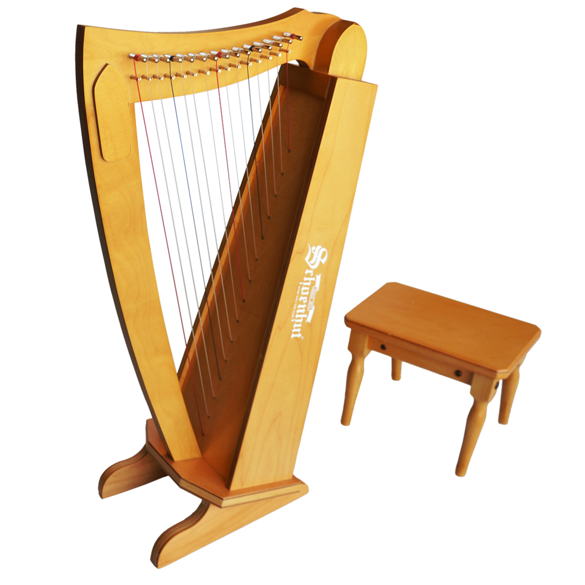 Schoenhut Harp in Cherry