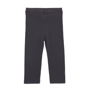 Hart & Land Cotton Legging in Solid Blackened Pearl