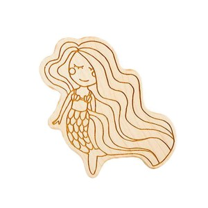 Lexy Pexy The Yves Mermaid Shaped Wooden Teether