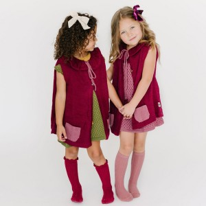 Folklore Wool Mila Cape on girl