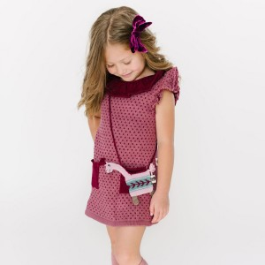 Folklore Wool Eva Dress on girl