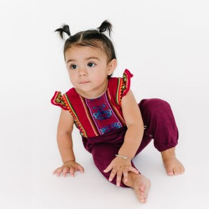 Folklore Luisa Sleeveless Romper on baby