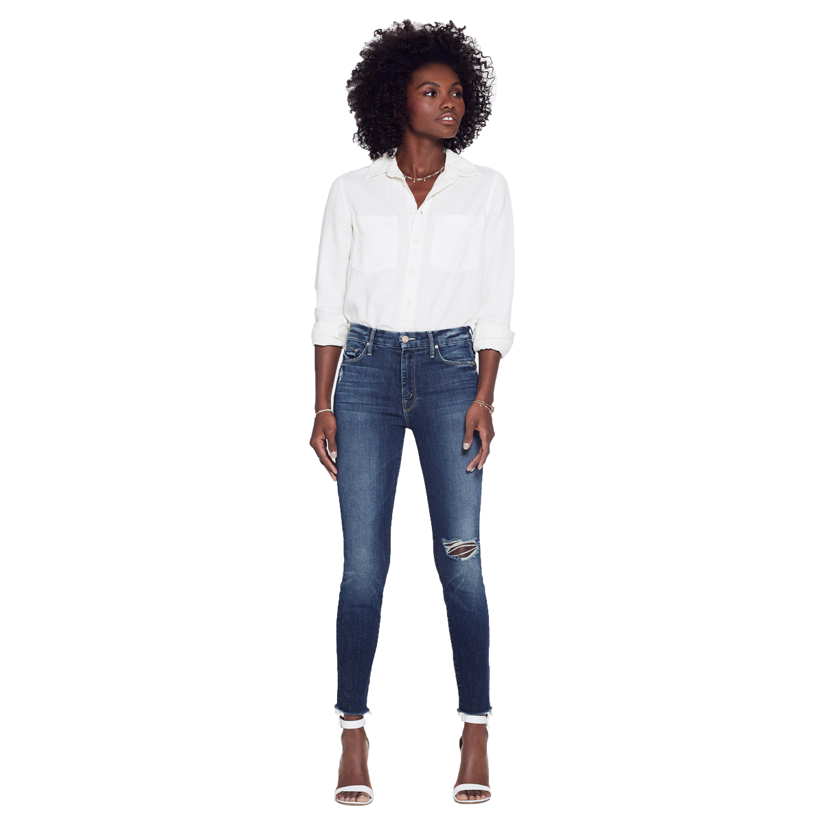 Mother Denim High Waisted Jean in Looker