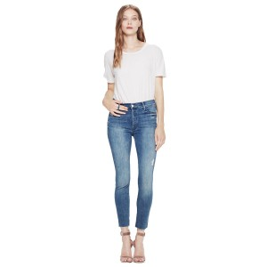 Mother Denim Stunner Ankle Fray Jean on woman